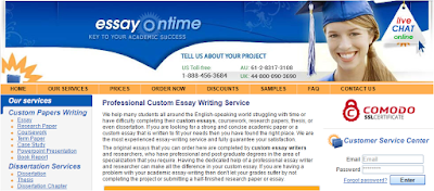 essayontime com review legit essay writing services  criteria 1 range of writing services offered mark 18 20
