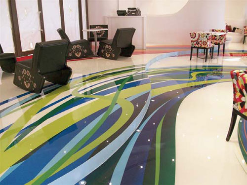 Contemporary Architecture Epoxy Resin Flooring