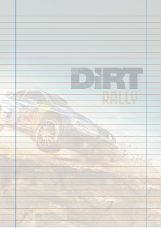 Papel Pautado do game Dirt Rally PDF para imprimir na folha A4