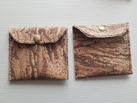 Cork Leather Pouch Bag
