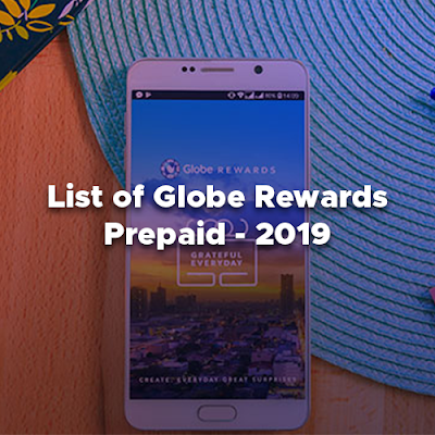 List of Globe Rewards - Prepaid, Item Codes That You Can