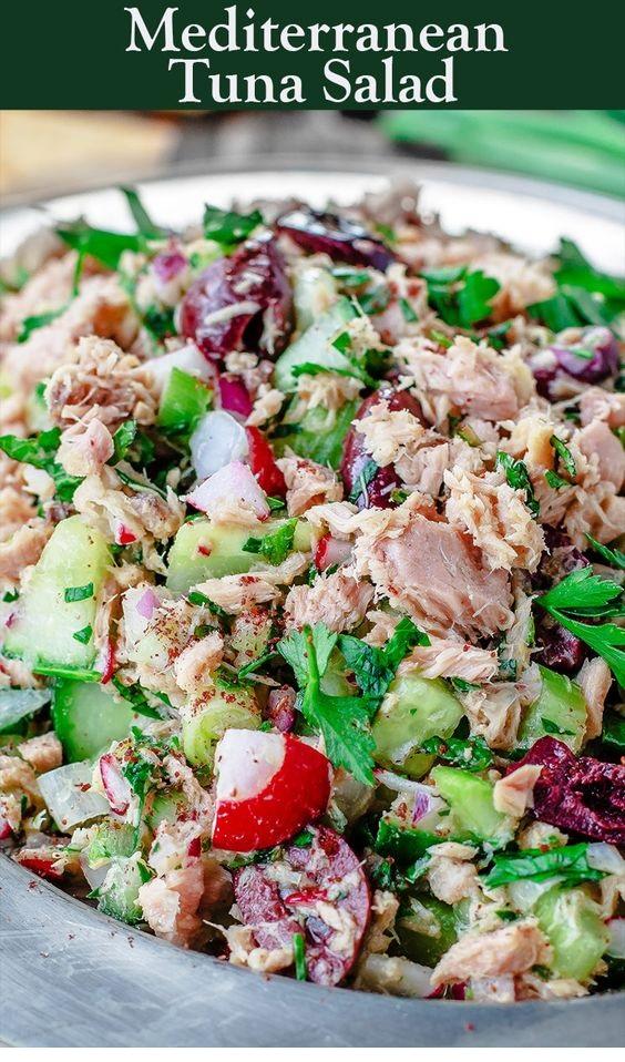 Mediterranean Tuna Salad With A Zesty Dijon Mustard Vinaigrette