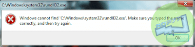 rundll32.exe Error Di Windows 7