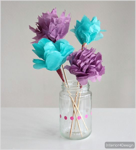 Making Flowers Of Thin Papers With Instructional Pictures And Steps 6