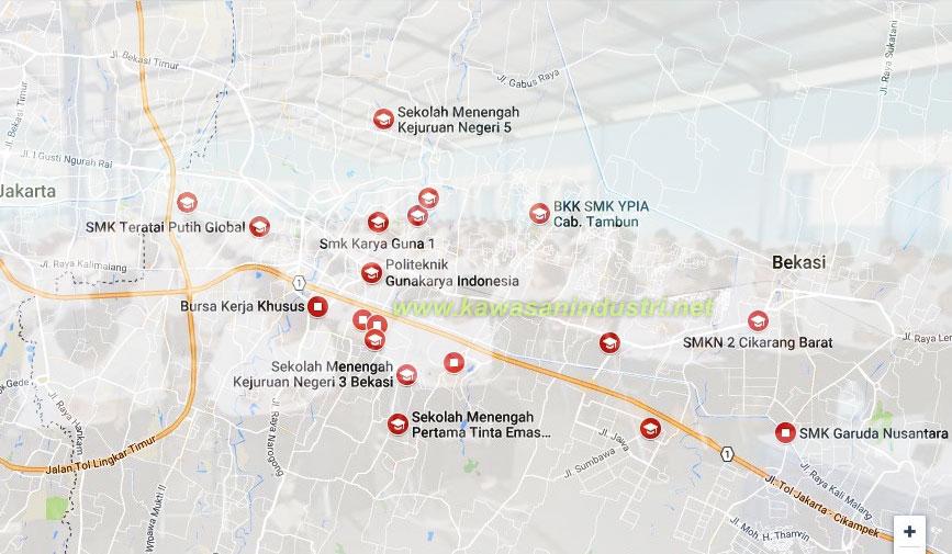 Daftar BKK Bekasi, Cikarang, Kerwang