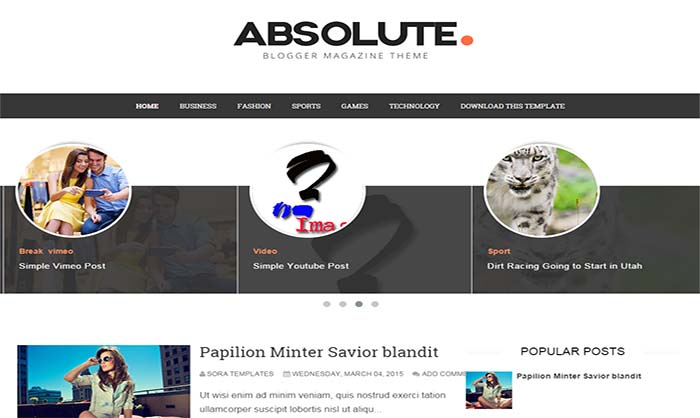Absolute blogger template