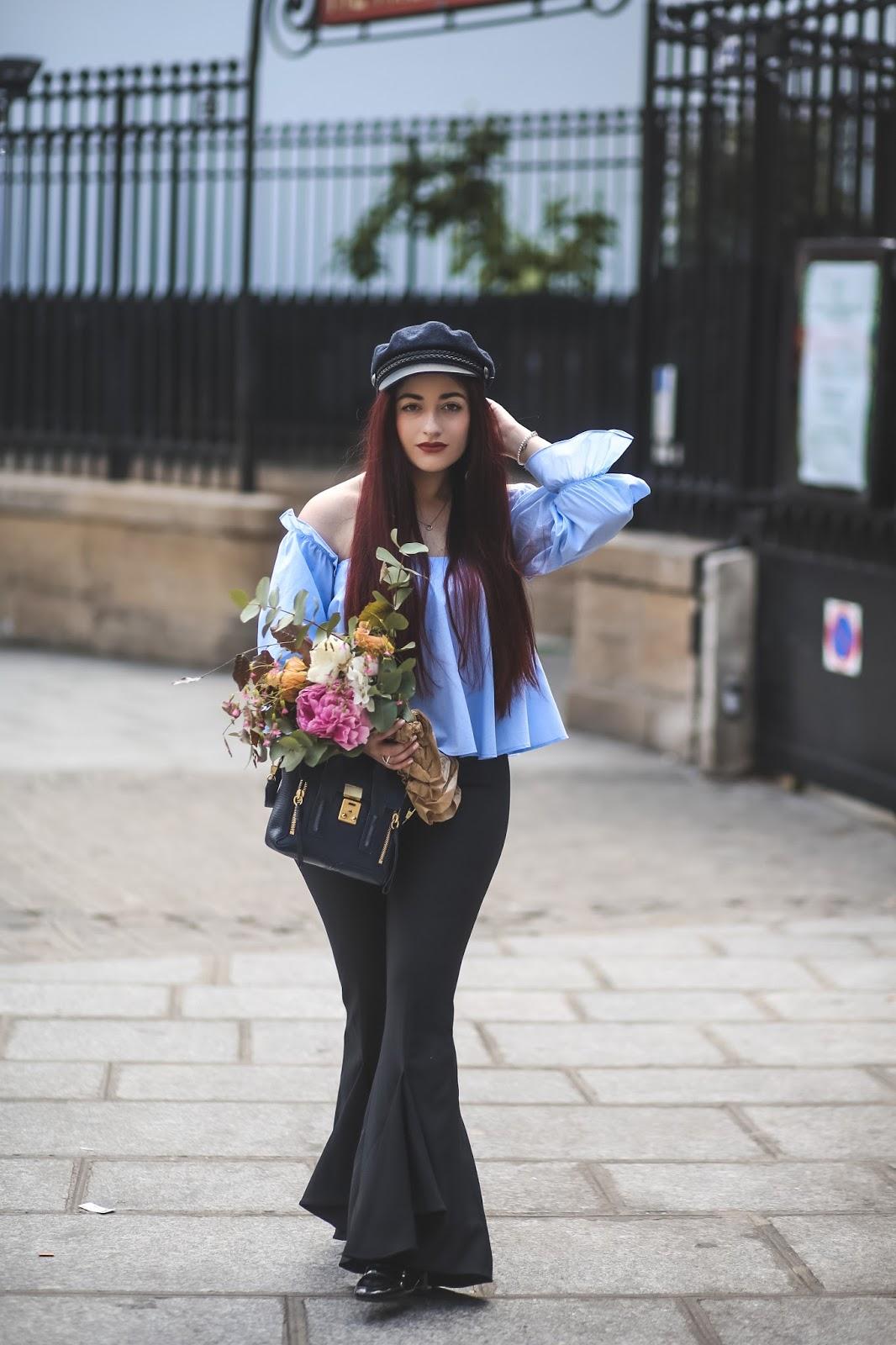 pantalon sirène évasé à volants blog mode paris