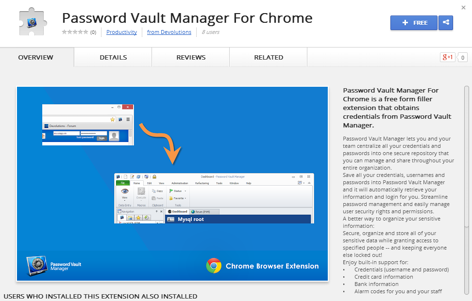 Password Vault Manager Extension Now Available in Chrome Web Store