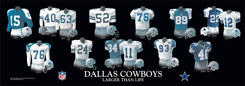 The Dallas Cowboys And Their Colorful Uniform History A