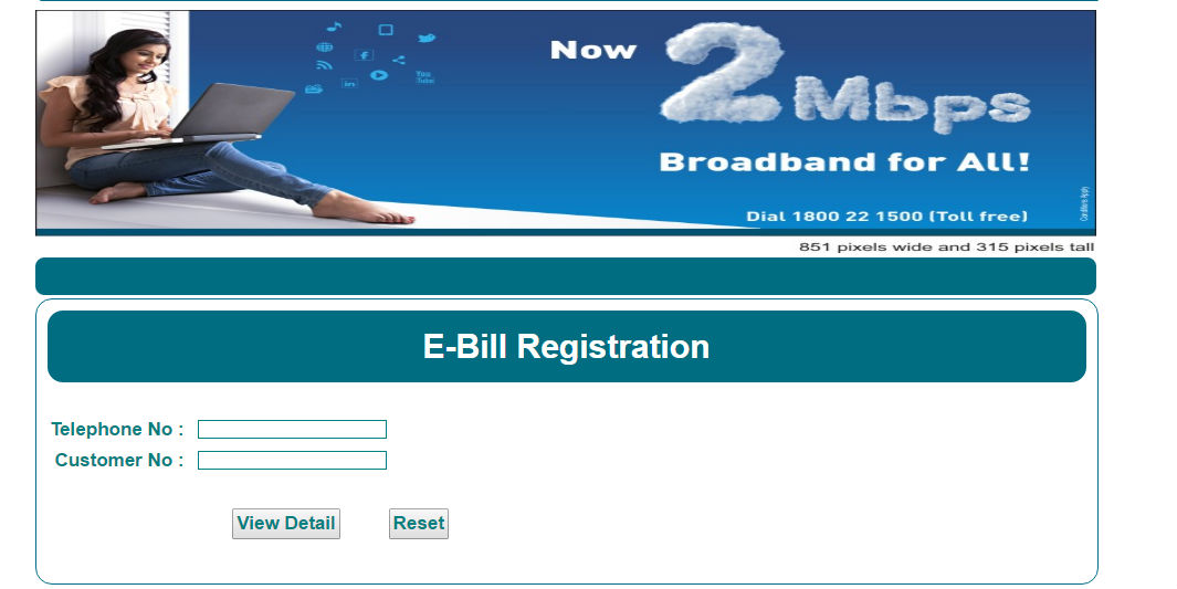 Miumbai MTNL Bill Payment Online - Registration