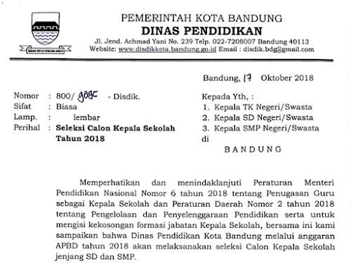 si kasep seleksi kepala sekolah Bandung