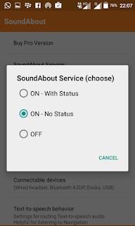 cara setting soundabout untuk menghilangkan mode headset