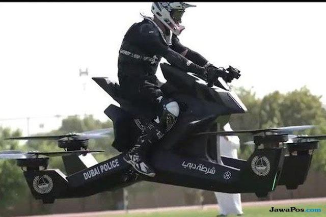 Keren Banget, Polisi Dubai akan Gunakan Motor Terbang Saat Bertugas