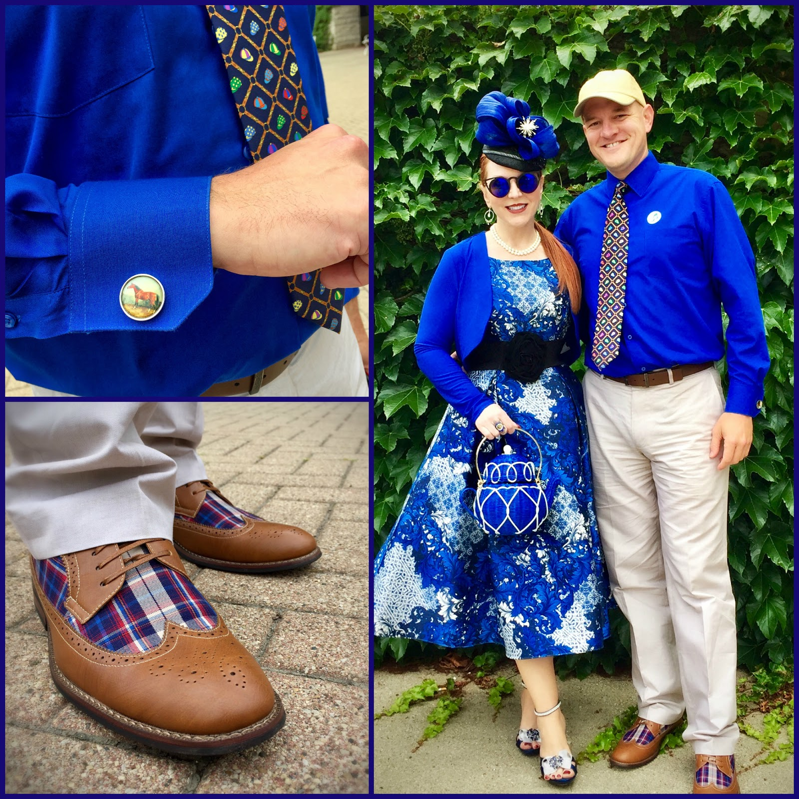 KDef Gets Styled For The Races Too Check Out Thoroughbred Cufflinks Jockeys Hat Tie And Those Shoes I Really Love
