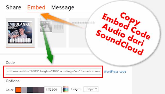 Cara Memasang Embed Soundcloud di Postingan AMP Blog