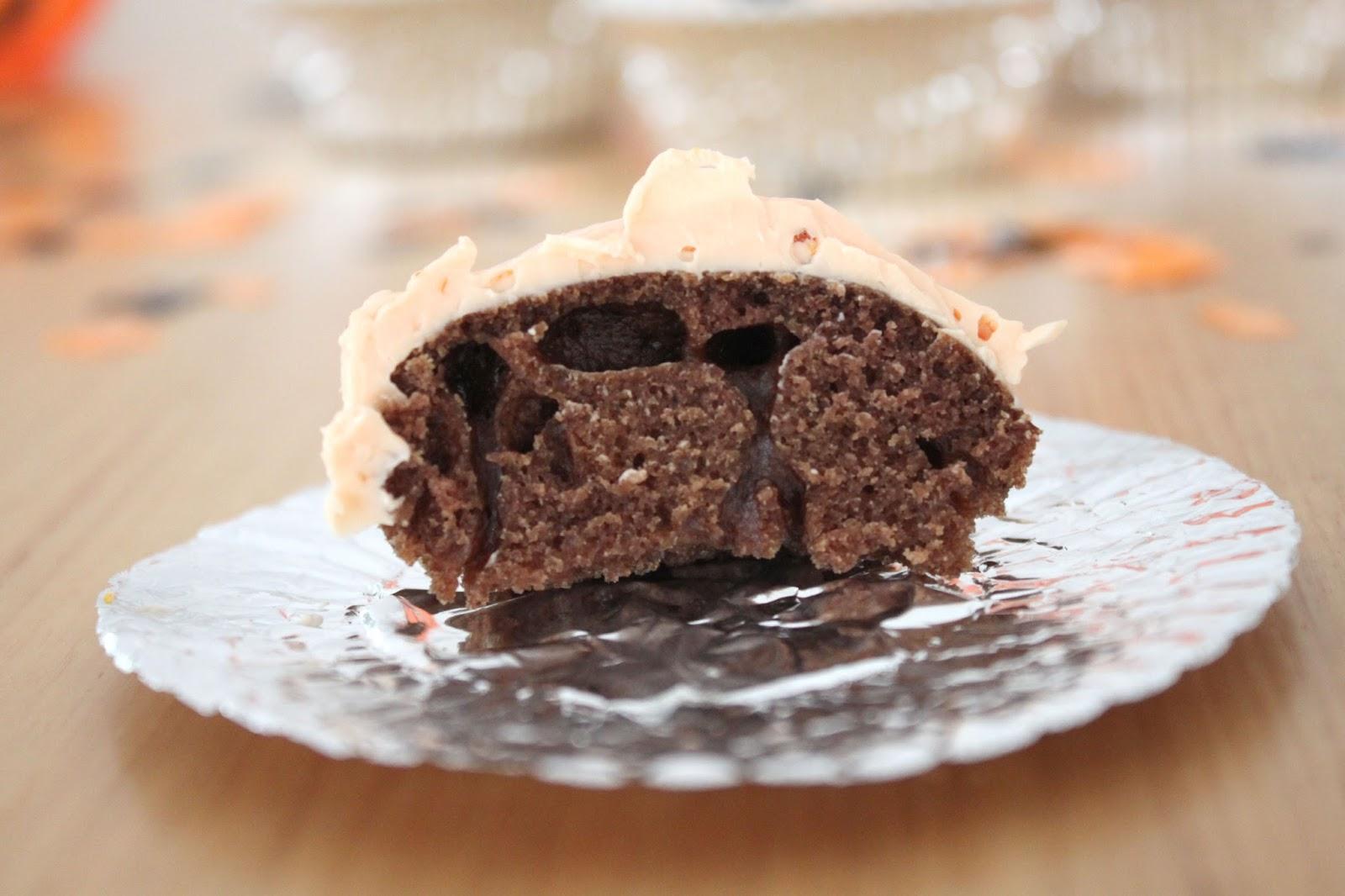 Chocolate Orange Halloween Cupcakes