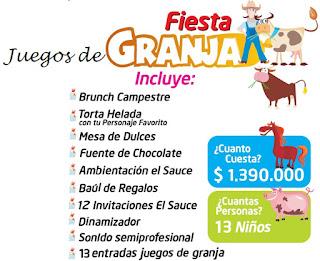 Fiesta cumpleaños juegos de granja campestre Bogota