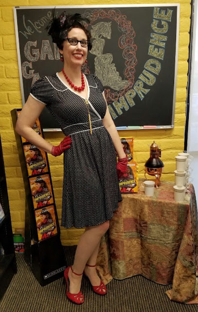 Gail Carriger's Imprudence Tour Outfit ~ San Diego Polka Dots