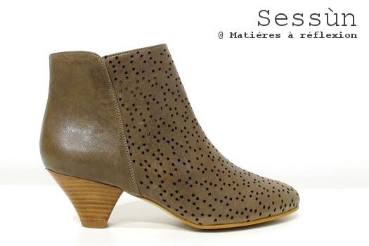 Boots Pow Wow Sessùn cuir paloma