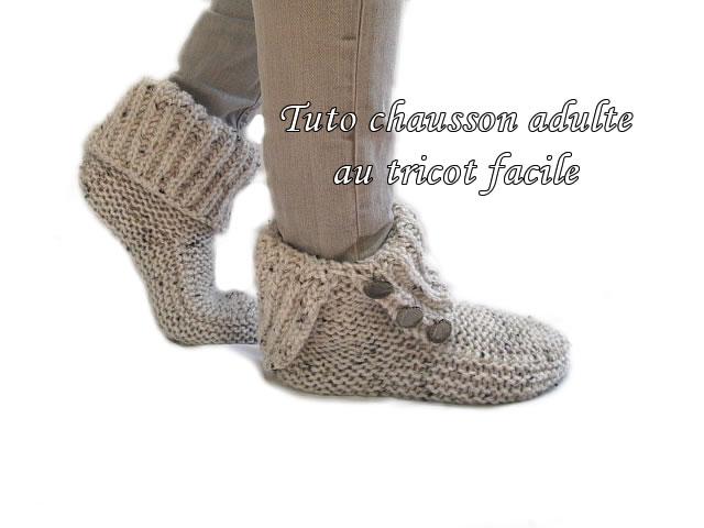 chausson a tricoter