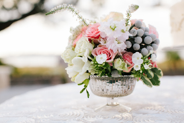 shabby+chic+wedding+spring+summer+pastel+champagne+pink+black+white+bride+groom+bouquet+ceremony+centerpiece+floral+flower+bridesmaid+dresses+dress+riverland+studios+14 - Charleston Pastel
