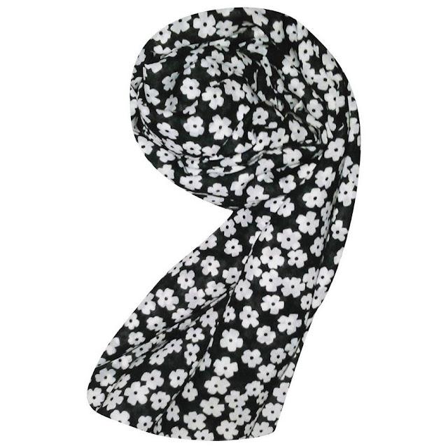 Hijab Modern Pashmina Shawl Chiffon Motif Simply Flower