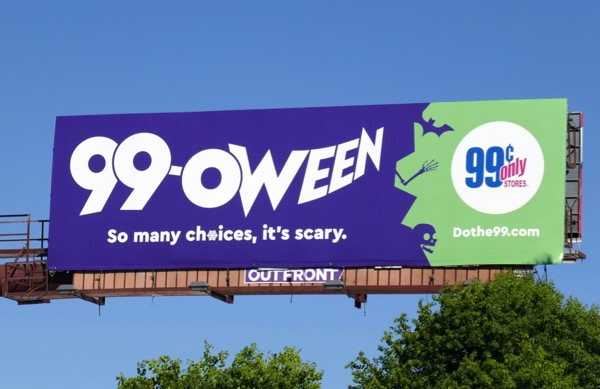 99oween Halloween billboard