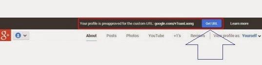 Thay đổi đường link Google Plus theo ý muốn