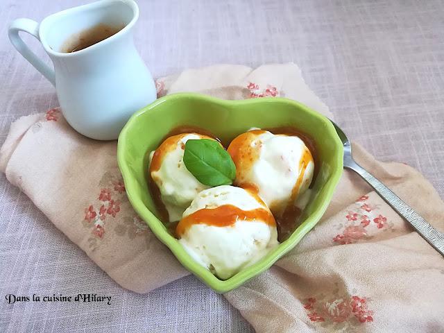 Glace au yaourt et son coulis d'abricot - Dans la cuisine d'Hilary