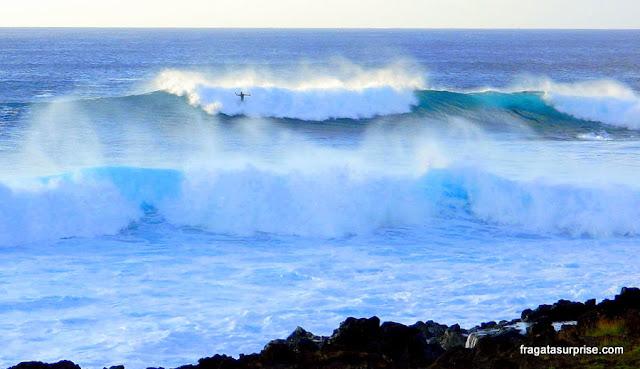 O mar bravo da Ilha de Páscoa