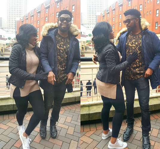 Biography of Bright Okpocha known as BasketMouth and his lovely wife