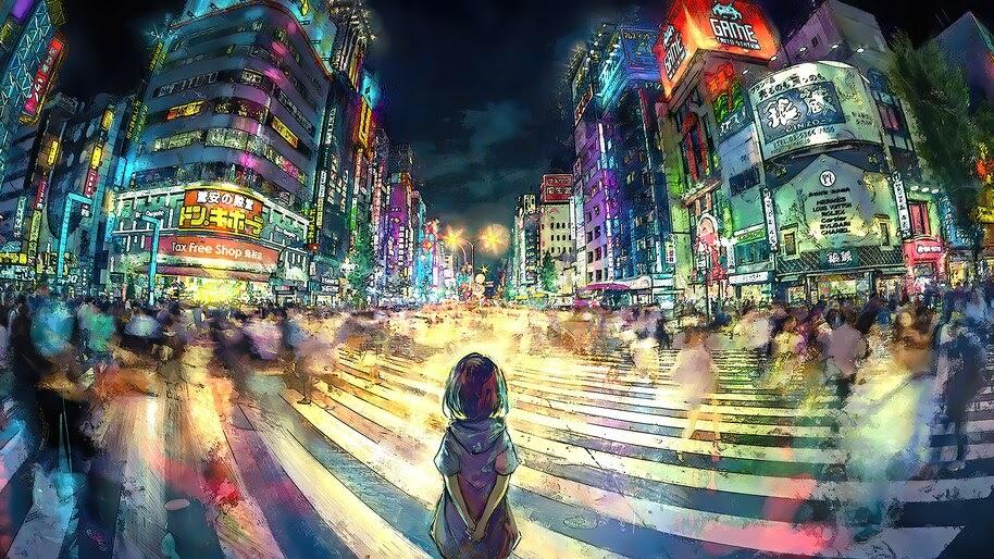 Anime, Tokyo, Shibuya, Crosswalk, 4K, #4.2494 Wallpaper