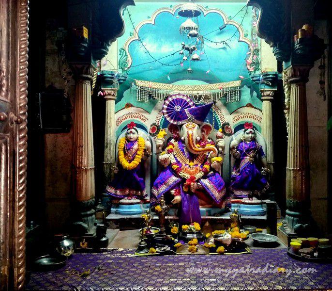 Ganesha deity at the heritage Dhundiraj Ganesha Temple, Vadodara, Gujarat