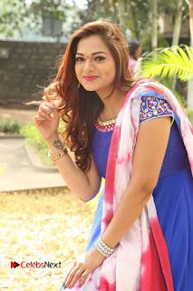 Actress Ashwini Stills in Blue Chudidar at Ameerpet Lo Release Press Meet  0196.JPG