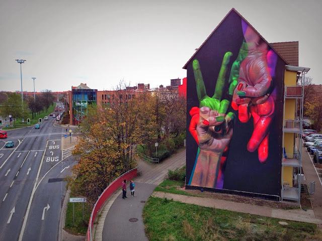 Street Art Mural By German Artist Case On The Streets of Erfurt, Germany. 1