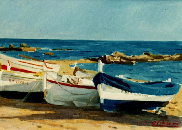 Alejandro Cabeza, Calella de Palafrugell, Pintor Español, Pintura Valenciana, Pintores Valencianos, Pintor Valenciano, impresionismo Valenciano