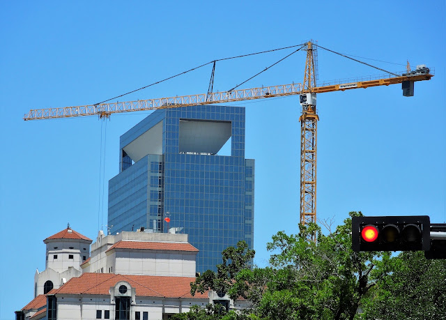 Medical Center Construction Crane Silhouette