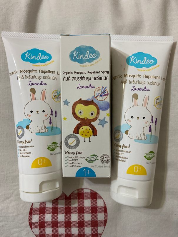 Our orders of Kindee Organic Mosquito Repellant Lotion