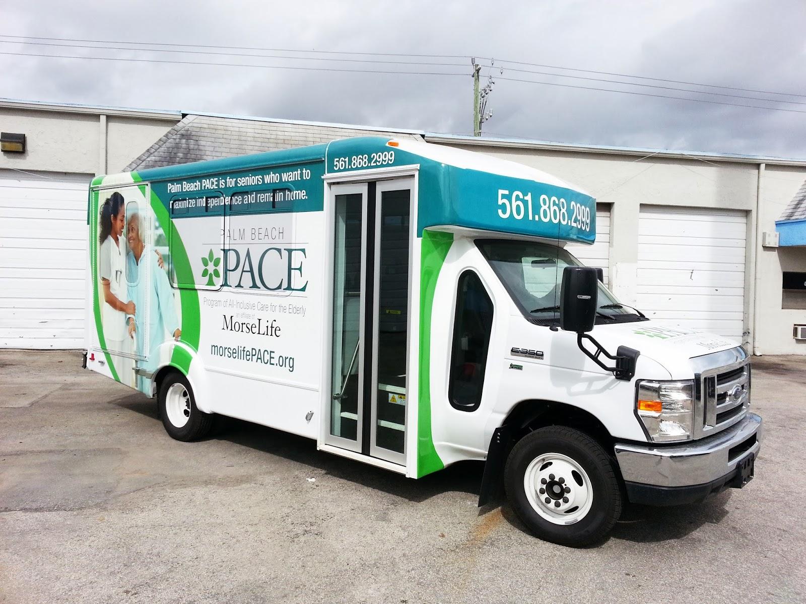 Shuttle Bus Passenger Van 3m Vinyl Vehicle Wrap Boca Raton