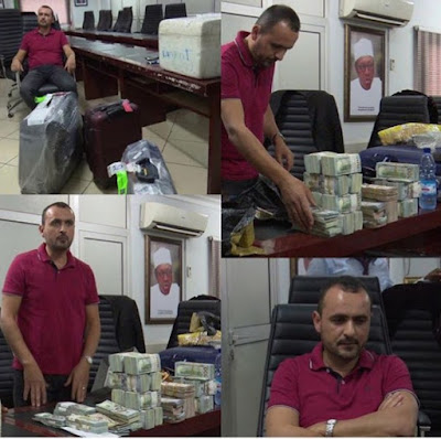 Lebanese arrested with whooping millions of dollars at Abuja Airport .