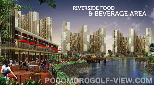 Riverside F&B Area Podomoro GolfView Depok