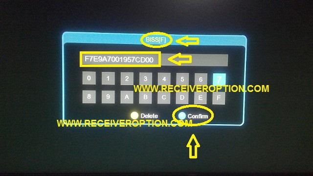 ECHOLINK 70D HD RECEIVER BISS KEY OPTION