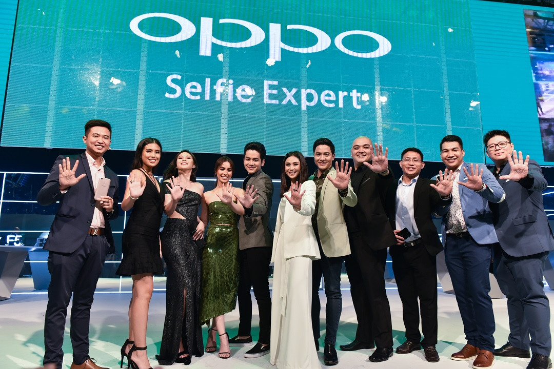 OPPO Philippines officials and ambassadors F5 launch
