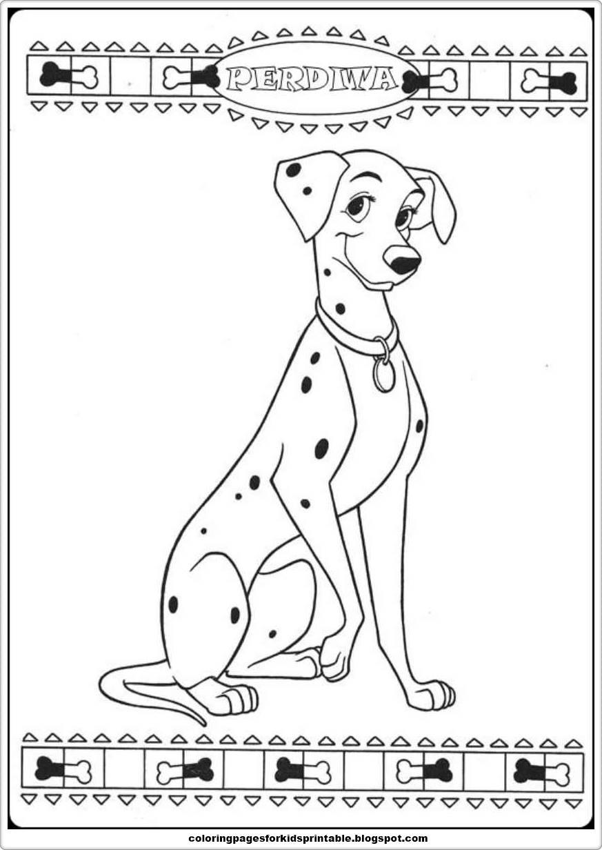 101 Dalmatians Coloring Pages Printable
