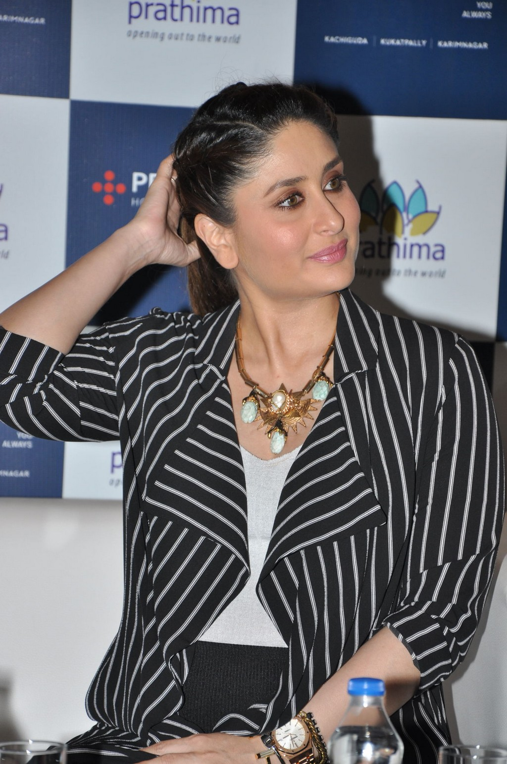 Kareena Kapoor Long Hair Stills In Black Dress Short