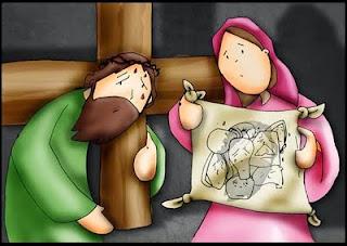 Resultado de imagen para VI Estación: Una piadosa mujer enjuga el rostro de Jesús