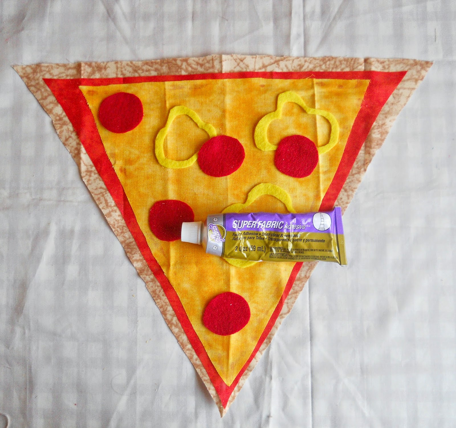 Running With A Glue Gun: No Sew Pizza Slice Pillow DIY