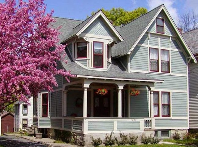 exterior walls paint ideas & color scheme & color combination