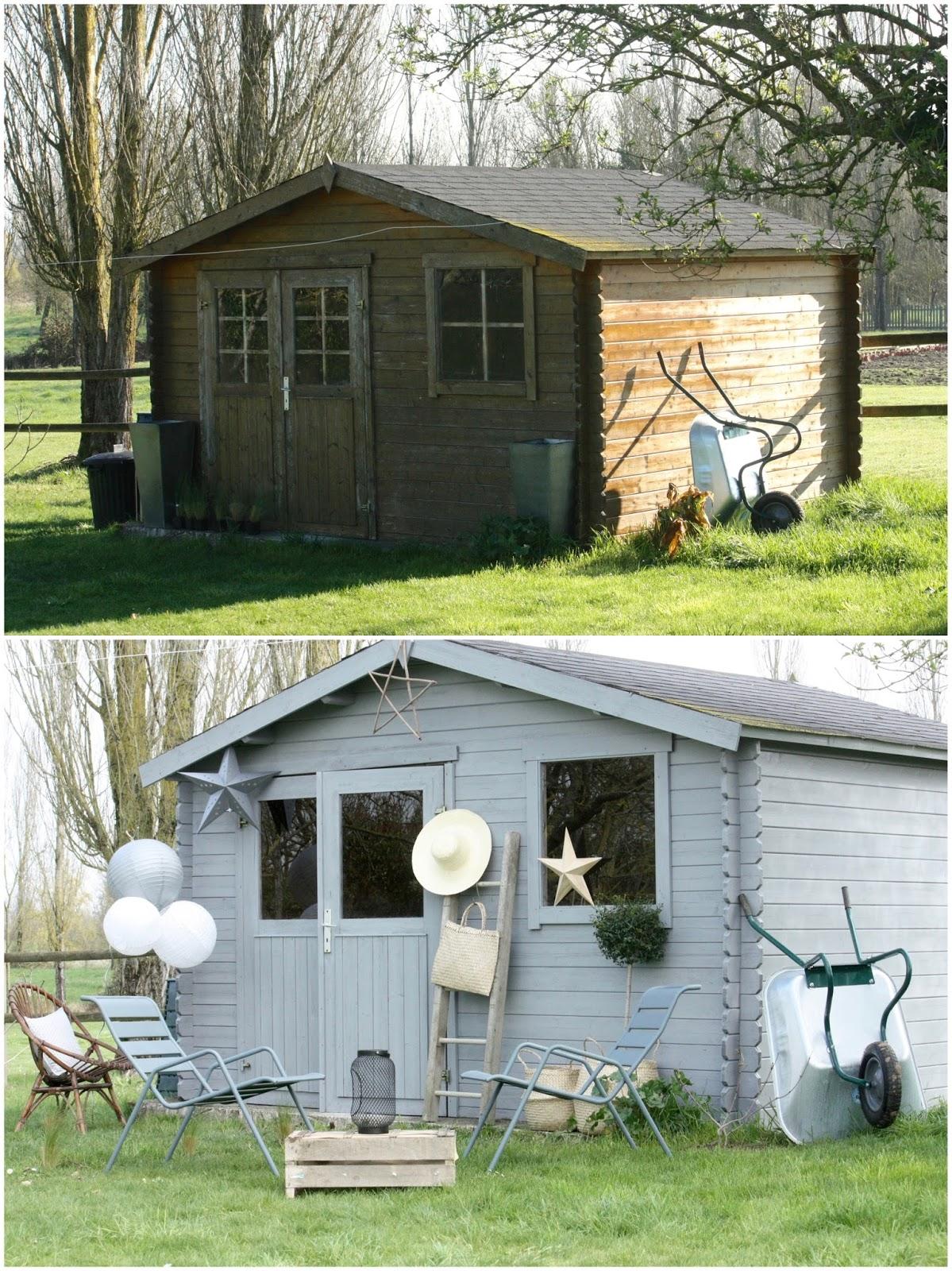 Un nouveau regard: Avant/Après d\'une cabane de jardin avec les ...