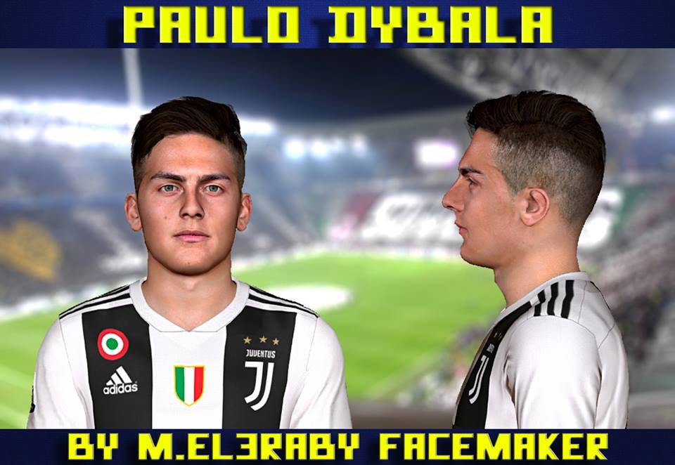 PES 2017 Paulo Dybala Face by M.Elaraby Facemaker